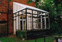 The outer frames and roof in place