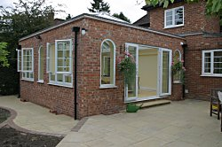 This Heritage Orangery was designed using upvc windows to match the existing ones used in the main building.